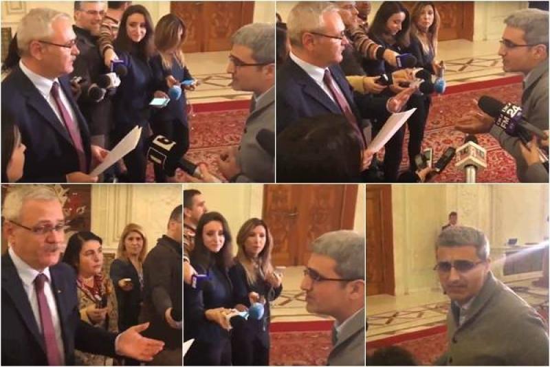 Dragnea și Turcescu, scandal monstru în holul parlamentului! (VIDEO)