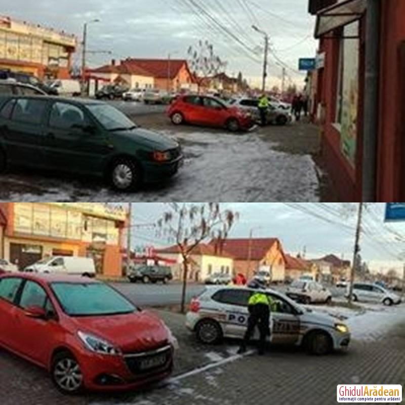 BREAKING NEWS! Agent de Poliţie acroşat de un sofer care a fugit de la locul accidentului! (FOTO)