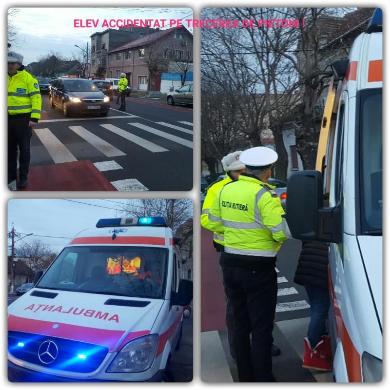 (Foto/Video) Elev accidentat pe trecerea de pietoni în Arad !