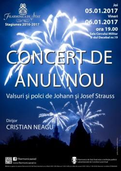 Concertul de Anul Nou, în două reprezentații extraordinare