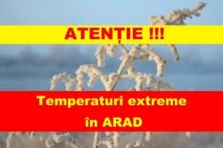 Temperaturi extreme în Arad! Se așteaptă minime greu de îndurat! Vezi cum poți să le depășești !