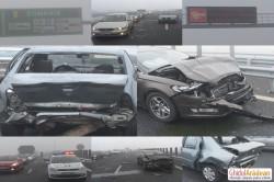 CARAMBOL pe Autostrada ARAD-NĂDLAC! (FOTO/Video declaraţii sofer)