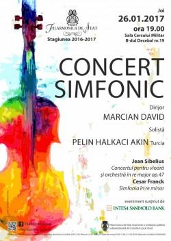 Concert pentru vioară și orchestră de Sibelius la Filarmonica Arad