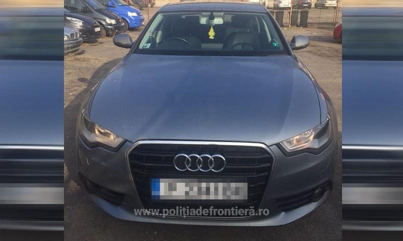Autoturism Audi A6, căutat pentru confiscare, reţinut la Punctul de Trecere a Frontierei Nădlac – Nagylak