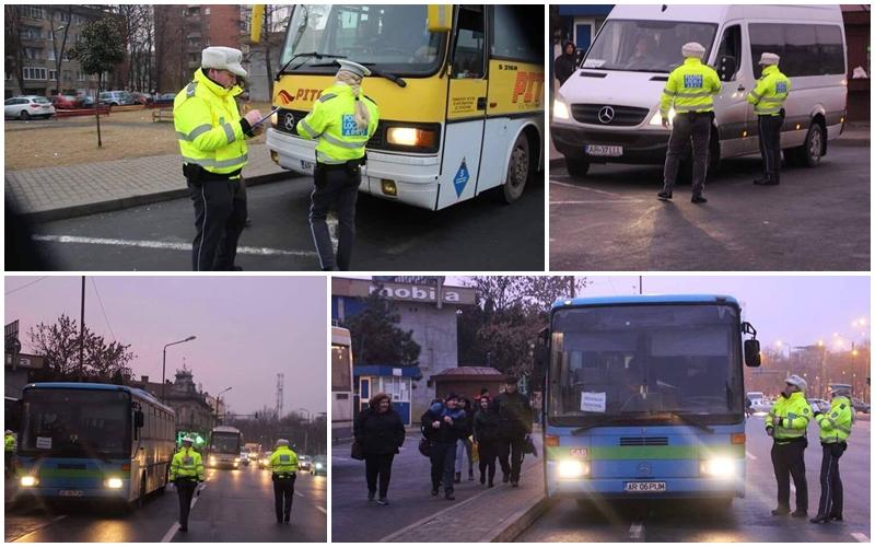 Poliția Locală Arad a derulat o amplă acțiune de verificare a companiile locale de transport public în comun