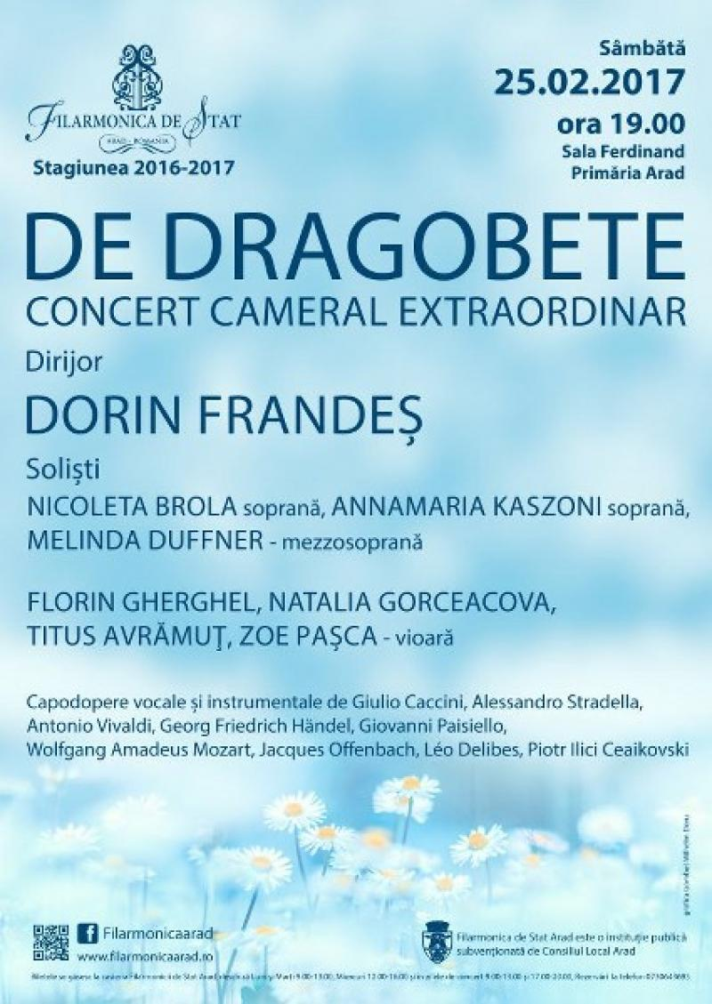 DE DRAGOBETE - Concert cameral extraordinar, sâmbătă, în sala Regele Ferdinand