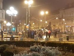 Aradul protestează şi în a 8-a zi consecutiv