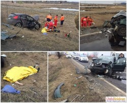 ( FOTO ) ACCIDENT mortal la ieşire din Zimandul Nou