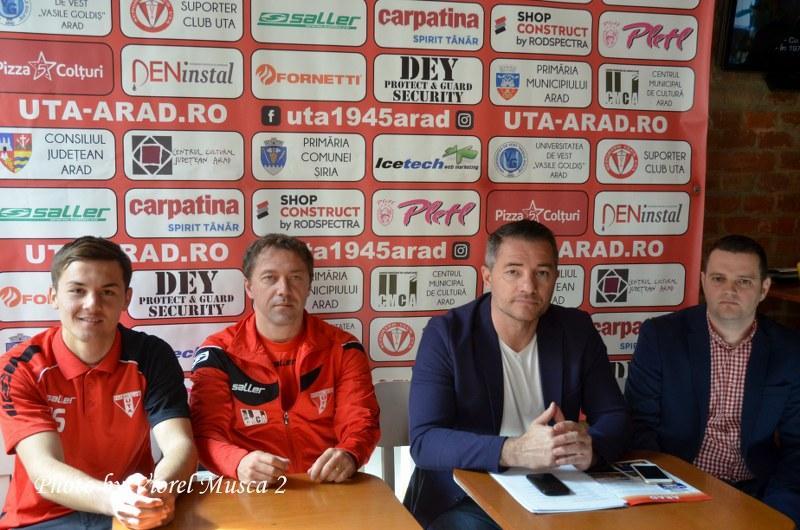 Conferinta de presa UTA Arad, înaintea meciului cu F.C. Braşov. UTA are încă un sponsor! Ford Auto Technic e alături de UTA!