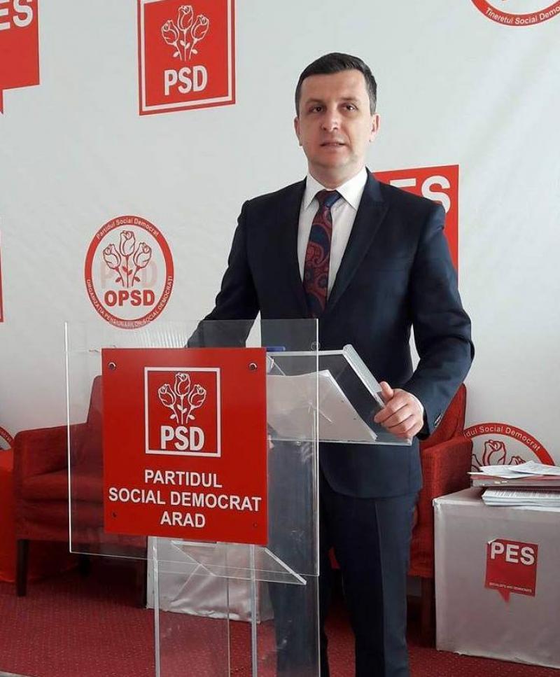 Beniamin Vărcuş (PSD) : Gheorghe Falcă va rămâne într-adevăr în istorie, dar ca ultim baron PDL aflat în jilţ