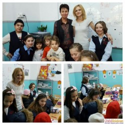 ( GALERIE FOTO ) Preşcolarii de la Bambi au realizat mărțişoare împreună cu elevii Şcolii Generale Mihai Eminescu !