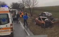 Grav accident rutier pe DN 69 pe drumul ce leagă Aradul de Timişoara (Galerie FOTO)