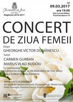 Concert de Ziua Femeii la Filarmonica de Stat Arad