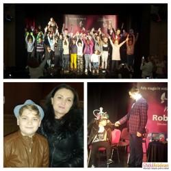 ( GALERIE FOTO ) Show extraordinar sâmbătă dimineața la Arad, cu Magicianul Robert Tudor, de la Vocea României Junior !