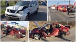 O maşină a Poliţiei de Frontieră implicată într-un accident! (Galerie FOTO)