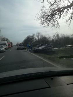 Accident lângă domeniile Lupaş pe DN7