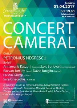 Sâmbătă, concert cameral, în Sala Regele Ferdinand