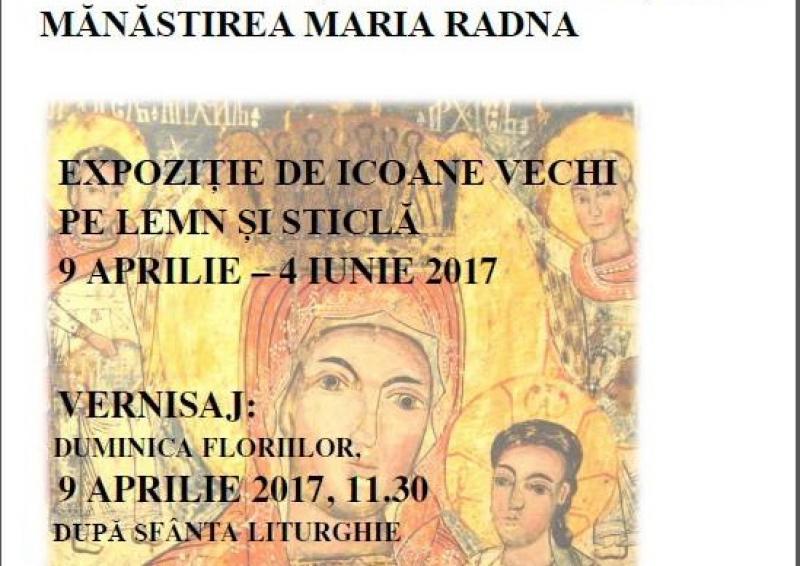 Expoziţie de icoane vechi pe lemn şi sticlă la mănăstirea Maria Radna