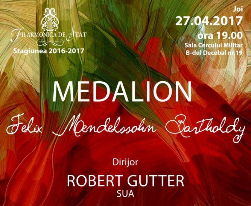 Medalionul Felix Mendelssohn Bartholdy la Filarmonica Arad