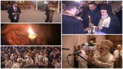 Lumina Învierii de la Ierusalim a ajuns şi la Arad (Galerie Foto/Video)