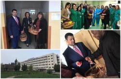 Vestea Învierii Mântuitorului  Iisus Hristos a fost adusă în ziua de Paste bolnavilor și angajaților din Spitalul Clinic Județean de Urgențe Arad (FOTO)