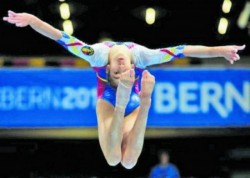 Arădeanca Olivia Cîmpian, eleganţă şi graţie la Europenele de gimnastică de la Cluj