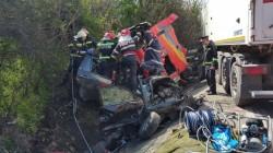 ACCIDENT cumplit pe DN 65: ȘASE victime, între care și copii (FOTO)
