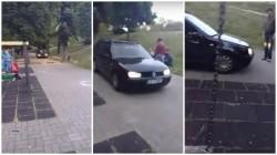 Tupeu de tupeu!  La plimbare cu maşina prin Parcul Copiilor (FOTO/Video)