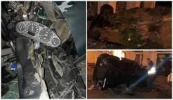"""Accident în cartierul A. Vlaicu. Viteza, alcoolul şi inconştienţa au fost ingredientele """"reuşitei"""""""