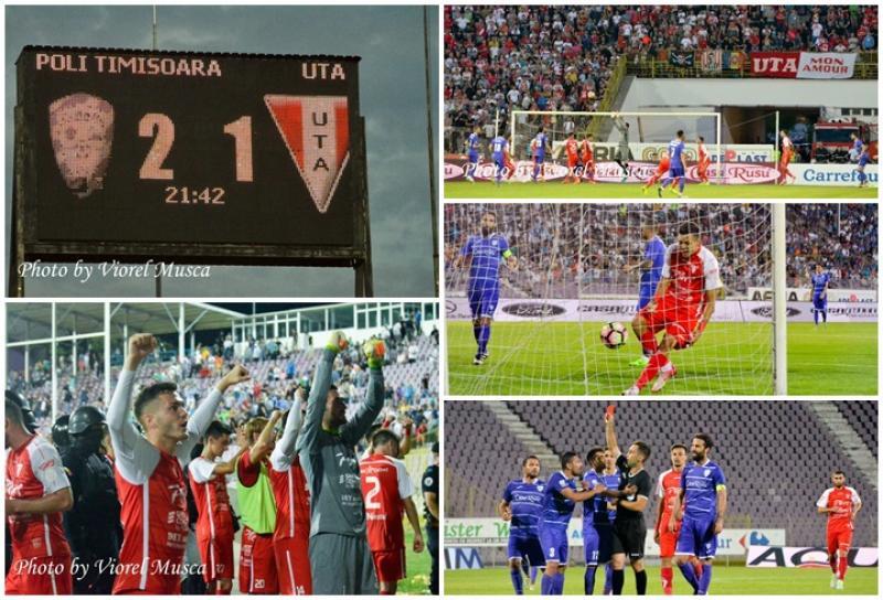 ACS Poli Timişoara – UTA Arad: 2 – 1 ! UTA rămâne cu şanse pentru Liga I după meciul de la Timişoara (Galerie FOTO)