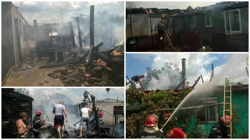 Un incendiu a distrus două case în satul Dud, comuna Tîrnova