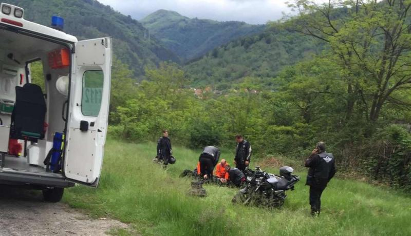Motociclist accidentat grav pe DN 7 !