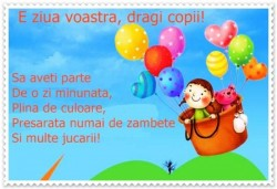 LA MULȚI ANI tuturor copiilor de 1 IUNIE !