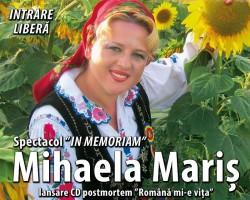 Spectacol extraordinar In Memoriam Mihaela Mariş la Teatru Clasic Ioan Slavici