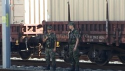 Soldat American electrocutat în gara Curtici (FOTO)