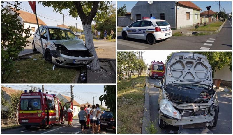 Accident violent în intersecţia buclucaşă din cartierul Bujac (Galerie FOTO)