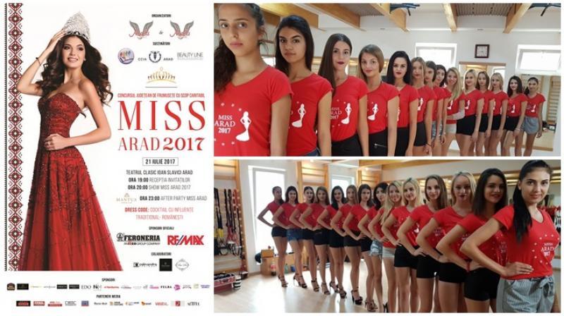 """MISS ARAD 2017 – sub sloganul """"Frumusețea înseamnă tradiție"""""""