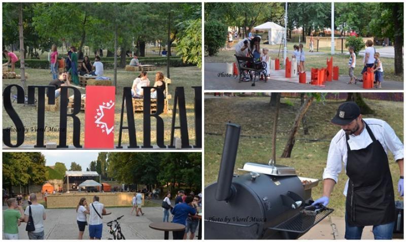 Festivalul Stradal StrArad, ediția a II-a, a început vineri seara în parcul Mihai Eminescu şi continuă până duminică