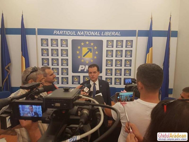 VIDEO! Ludovic Orban, în vizită la Arad: peste 500.000 locuri de muncă sunt în pericol!