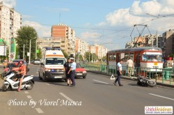 Accident cel puţin ciudat pe Calea Aurel Vlaicu (FOTO)