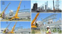 A început montarea structurii metalice a acoperişului tribunelor la Stadionul UTA (Galerie FOTO)