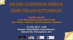 """Adam Muller Guttenbrunn va fi omagiat la Zăbrani, în cadrul proiectului """"Galeria Scriitorilor Arădeni"""""""