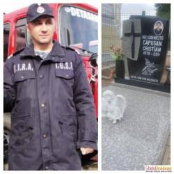 Familia, prietenii și colegii de la ISU Arad, nu l-au uitat ! Au trecut 6 ani, de când Cristi Căpușan a plecat dintre noi, să fie un erou printre îngeri !
