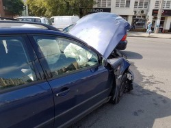 ACCIDENT rutier la Lebăda ! NEATENȚIA și telefoanele provoacă accidente rutiere, zilnic !