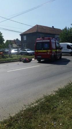 Motociclist accidentat pe centura Aradului !