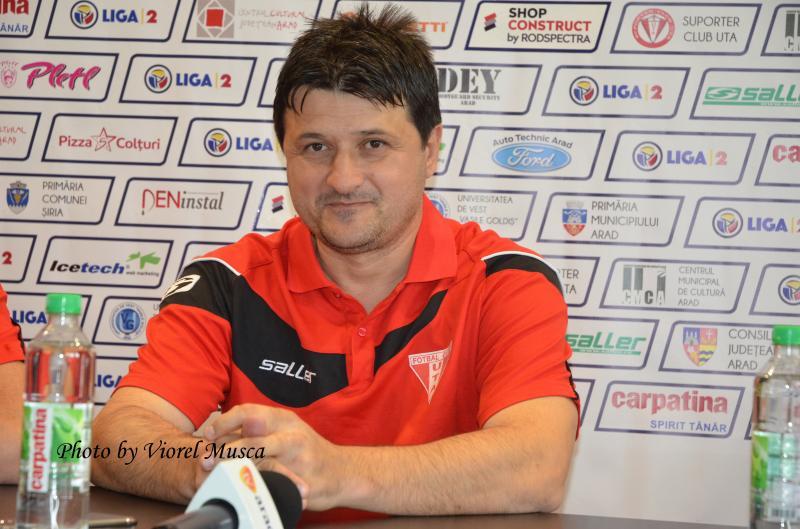 Adrian Falub, prima conferinţă de presă după revenirea la UTA. Plecarea lui Todea ridică mari semne de întrebare...De ce pleacă ?