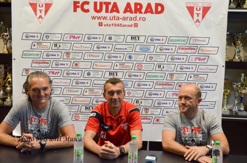 Arădenii Cristi Todea, Sorin Botiș și Cristi Păcurar au preluat echipa! UTA este a Aradului cu antrenori arădeni!