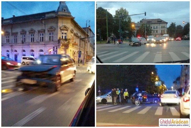Accident rutier pe Bulevardul Revoluţiei! Un bărbat rănit a ajuns la spital!