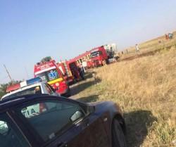 ACCIDENT feroviar ! Un Tir a fost lovit de tren ! Șoferul a tratat cu indiferență semnul STOP