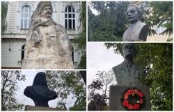 Busturile nimănui în văzul tuturor! Hoţii de fier vechi au vandalizat monumentele din Arad